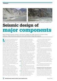 Seismic design of major components