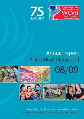 Annual report Adroddiad blynyddol - WCVA
