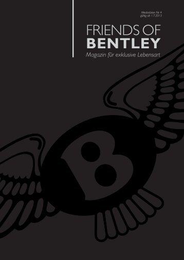 """Mediadaten Download - """"Friends of Bentley""""."""