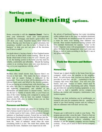 Sievert for Best heating options for home
