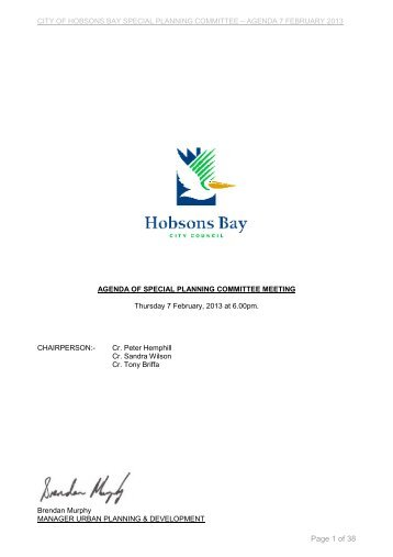 Page 1 of 38 - Hobsons Bay