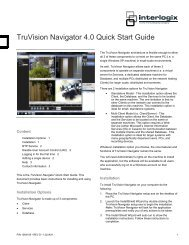 TruVision Navigator 4.0 Quick Start Guide - Interlogix