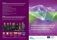 CAD panaudojimas sutrumpinant palaikymo medicininio produkto ...