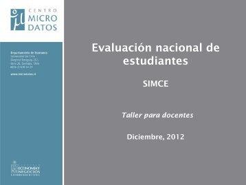 Módulo I: Evaluación de aprendizajes en Chile (SIMCE) - Centro ...