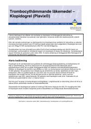 Trombocythämmande läkemedel - Klopidogrel (Plavix) 2000 - SBU