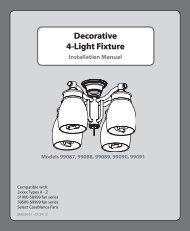 4-Light Fixture Decorative 4-Light Fixture Decorative - Hunter Fan