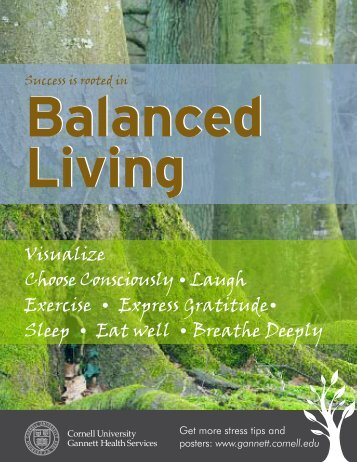 Success is rooted in balanced living - Gannett Health Services