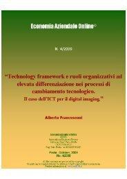 Technology framework e ruoli organizzativi ad elevata ... - Riviste