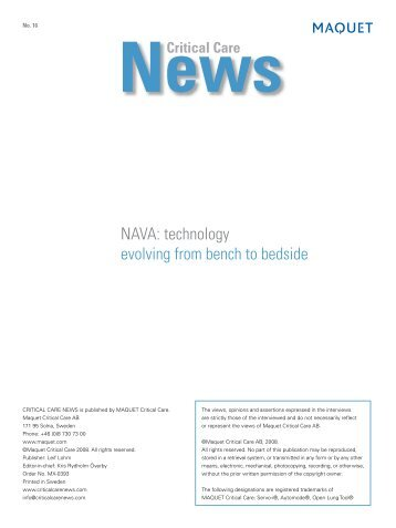NAVA: technology evolving from bench to bedside - Critical Care ...