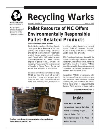Recycling Works, Vol. 9 #1 - P2 InfoHouse