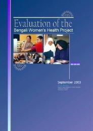Evaluation Report - Bengali Women's Health Project