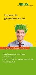 Neue grüne Fertiglösungen - Helix Pflanzensysteme