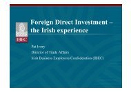 Foreign Direct Investment – the Irish experience