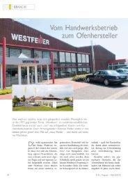 Vom Handwerksbetrieb - Westfeuer