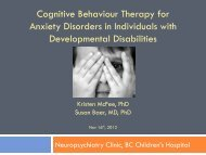 Cognitive Behaviour Therapy For Anxiety Disorders In