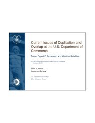Current Issues of Duplication and Overlap at the U.S. Department ...