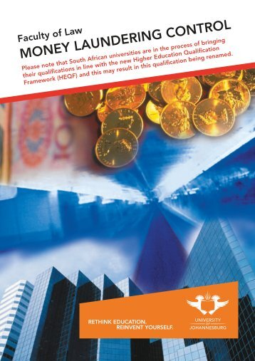 MONEY LAUNDERING CONTROL - University of Johannesburg