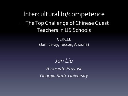 Intercultural In/competence - CERCLL