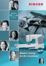 Modern sewing fun for everybody ! - Singer