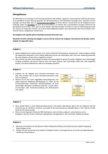 Probeklausur2-SE2 - schmiedecke.info