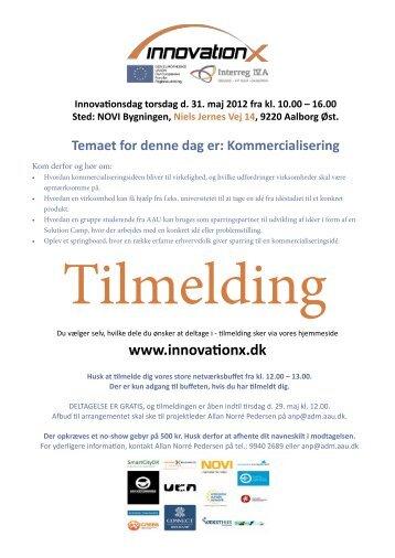 Innovationsdag torsdag d. 31. maj 2012 fra kl. 10.00 - Innovation X