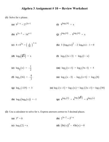 Printables. Algebra Review Worksheet. Gozoneguide Thousands of ...