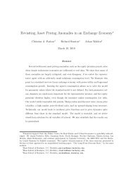Revisiting Asset Pricing Anomalies in an Exchange Economy