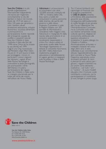 Media Education - Save the Children Italia Onlus