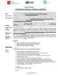 Cittadinanza digitale e Politiche pubbliche - Aica