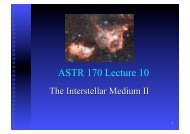 ASTR 170 Lecture 10