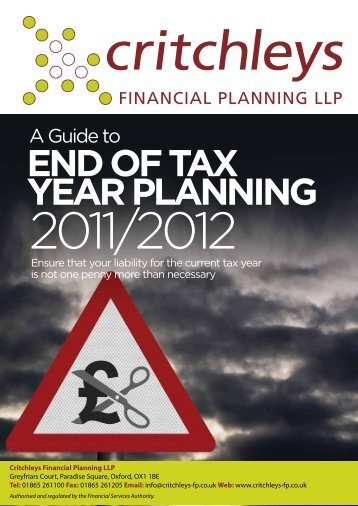 END OF TAX YEAR PLANNING - Critchleys