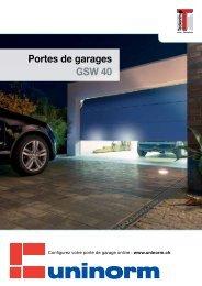 Documentation portes de garage - UNINORM Technic AG