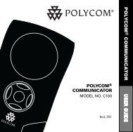 Polycom Communicator C100 User Guide - Polycom Support