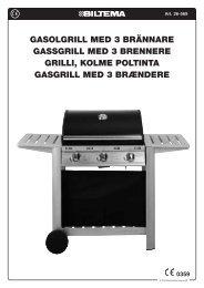 GasolGrill med 3 brännare GassGrill med 3 brennere Grilli ... - Biltema