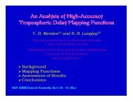 An Analysis of High-Accuracy Tropospheric Delay Mapping Functions