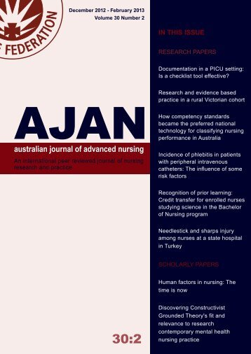 Download Complete Issue - Australian Journal of Advanced Nursing