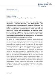 20 Jahre Coswig RAIL.ONE feiert 20-jähriges ... - RAIL.ONE GmbH
