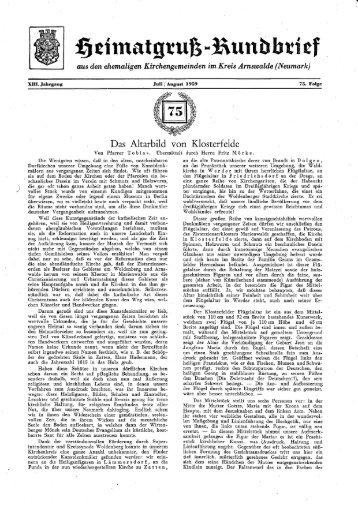 HR Folge 75 - Heimatkreis Arnswalde