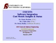 COCOTS Software Integration Cost Model - USC Center for Systems ...
