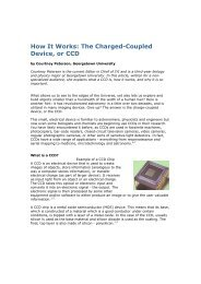 How It Works: The Charged-Coupled Device, or CCD