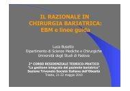 EBM e linee guida - Societa' Italiana Obesità (SIO)