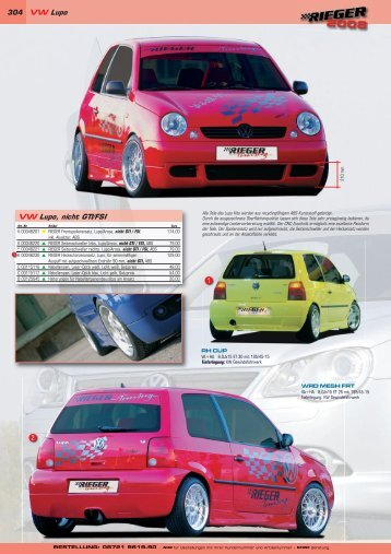 304 VW Lupo VW Lupo, nicht GTI/FSI