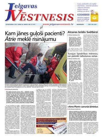 2011.gada 24.marts Nr.12(197) - Jelgavas Vēstnesis