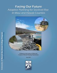 Facing Our Future, Adaptive Planning for Sea-level Rise in Maui and ...