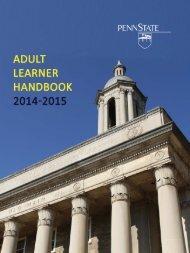 Adult Learner Handbook (PDF) - Student Affairs - Penn State ...