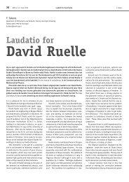 Laudatio for David Ruelle - Nieuw Archief voor Wiskunde