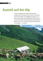 Auszeit auf der Alp 100 Tage im Jahr haben Irène Blum ... - Natürlich