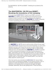 Bobst Group - News - The MASTERFOIL 106 PR from BOBST ... - Ipex