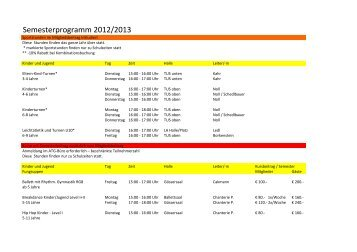 Semesterprogramm 2012/2013 - ATG