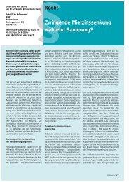 PDF-Dokument/20KB - Wohnbaugenossenschaften Schweiz
